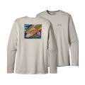 Brook: Tailored Grey - Patagonia - Men's Graphic Tech Fish Tee