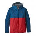 Big Sur Blue w/Fire Red - Patagonia - Men's Torrentshell Jacket