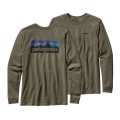 Industrial Green - Patagonia - Men's L/S P-6 Logo Cotton T-Shirt