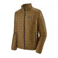 Coriander Brown w/River Delta Multi: Smolder Blue - Patagonia - Men's Nano Puff Jacket
