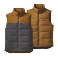 Forge Grey w/Bear Brown - Patagonia - Men's Reversible Bivy Down Vest