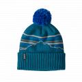 Fitz Roy Retro Stripe Knit: Crater Blue - Patagonia - Powder Town Beanie