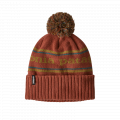 Park Stripe Knit: Spanish Red - Patagonia - Powder Town Beanie