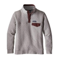 Drifter Grey w/Dark Ruby - Patagonia - Women's Cotton Quilt Snap-T Pullover
