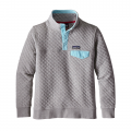 Drifter Grey w/Cuban Blue - Patagonia - Women's Cotton Quilt Snap-T P/O