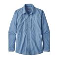 Whole Weave: Railroad Blue - Patagonia - Men's L/S Sun Stretch Shirt