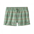Tarkine Stripe Small: Ellwood Green - Patagonia - Women's Island Hemp Baggies Shorts