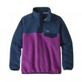Ikat Purple w/Stone Blue - Patagonia - Girls' LW Synch Snap-T P/O