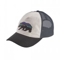 White w/Black - Patagonia - Women's Fitz Roy Bear Layback Trucker Hat