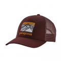 Dark Ruby - Patagonia - Line Logo Ridge LoPro Trucker Hat
