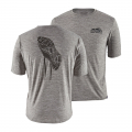 Trail Tread: Feather Grey - Patagonia - Men's Cap Cool Daily Graphic Shirt
