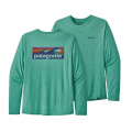 Boardshort Logo: Beryl Green X-Dye - Patagonia - Men's L/S Cap Cool Daily Graphic Shirt