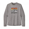 Line Logo Ridge: Feather Grey - Patagonia - Men's L/S Cap Cool Daily Graphic Shirt