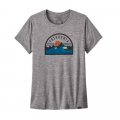 Boardie Badge: Feather Grey - Patagonia - Women's Cap Cool Daily Graphic Shirt