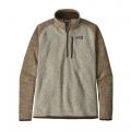 Bleached Stone w/Pale Khaki - Patagonia - Men's Better Sweater 1/4 Zip