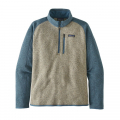 Bleached Stone w/Pigeon Blue - Patagonia - Men's Better Sweater 1/4 Zip