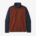 Barn Red w/New Navy - Patagonia - Men's Better Sweater 1/4 Zip