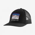 Black - Patagonia - Line Logo Ridge LoPro Trucker Hat