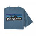 Pigeon Blue - Patagonia - Men's P-6 Logo Organic T-Shirt