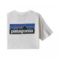 White - Patagonia - Men's P-6 Logo Organic T-Shirt