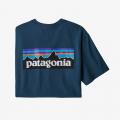 Crater Blue - Patagonia - Men's P-6 Logo Responsibili-Tee
