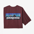 Dark Ruby - Patagonia - Men's P-6 Logo Responsibili-Tee
