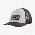 White w/Piton Purple - Patagonia - P-6 Logo LoPro Trucker Hat