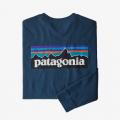 Crater Blue - Patagonia - Men's L/S P-6 Logo Responsibili-Tee
