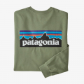 Sedge Green - Patagonia - Men's L/S P-6 Logo Responsibili-Tee