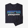 Piton Purple - Patagonia - Men's L/S P-6 Logo Responsibili-Tee