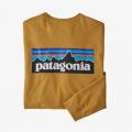 Hawk Gold - Patagonia - Men's L/S P-6 Logo Responsibili-Tee