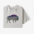 White w/Bison - Patagonia - Men's Back For Good Organic T-Shirt