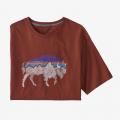 Fox Red w/Bison - Patagonia - Men's Back For Good Organic T-Shirt