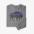 Gravel Heather w/Bison - Patagonia - Men's L/S Back For Good Responsibili-Tee