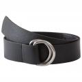 Black - Mountain Khakis - Leather D-Ring Belt