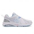 White with Light Blue - New Balance - 857 v2 Women's Training Shoes