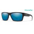 Matte Black-Chromapop Polarized Blue Mirror - Smith Optics - Outlier 2