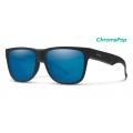 Matte Black-Chromapop Polarized Blue Mirror - Smith Optics - Lowdown 2