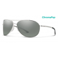 Silver-Chromapop Polarized Platinum Mirror - Smith Optics - Serpico 2