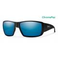 Matte Black-Chromapop Glass Polarized Blue Mirror - Smith Optics - Guides Choice