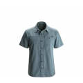 Adriatic - Black Diamond - Men's S/S Chambray Modernist Shirt
