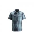 Admiral / Caspian Plaid - Black Diamond - Men's S/S Technician Shirt