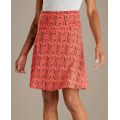 Coral Blaze Petal Print - Toad&Co - Chaka Skirt