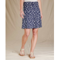 True Navy Tossed Floral Print - Toad&Co - Women's Chaka Skirt