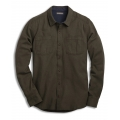 Rustic Olive Heather - Toad&Co - Men's Flannagan Solid LS Shirt