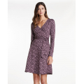 Huckleberry Line Print - Toad&Co - Cue Wrap LS Dress