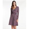 Huckleberry Line Print - Toad&Co - Women's Cue Wrap LS Dress