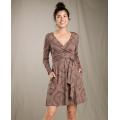 Falcon Brown Yard Sale Print - Toad&Co - Women's Cue Wrap LS Dress