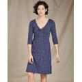 True Navy V Print - Toad&Co - Rosalinda Dress