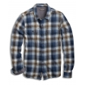 Weathered Blue - Toad&Co - Men's Indigo Flannel LS Shirt Slim